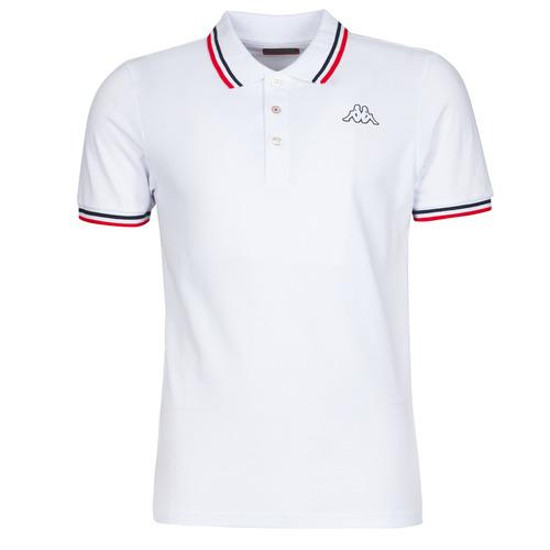 Clothing Men Short-sleeved polo shirts Kappa ESMO White