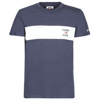 Clothing Men short-sleeved t-shirts Tommy Jeans TJM CHEST STROPE LOGO Marine