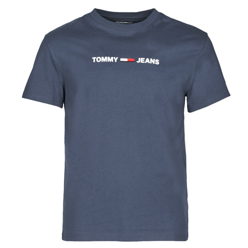 Clothing Men Short-sleeved t-shirts Tommy Jeans TJM STRAIGHT SMALL LOGO Marine