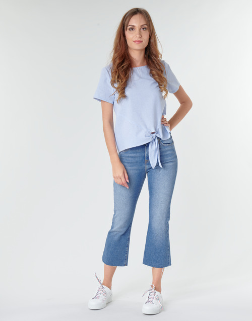 Clothing Women Straight jeans Tommy Jeans KATIE CROP FLARE Blue / Medium