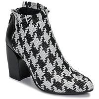 Shoes Women Shoe boots Mimmu JESTINE Black / White