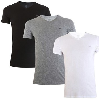 Clothing Men short-sleeved t-shirts Diesel Umtee Jake Vneck 3PACK