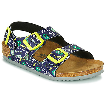 Shoes Boy Sandals Birkenstock MILANO Blue / Yellow