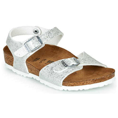 Shoes Girl Sandals Birkenstock RIO Silver