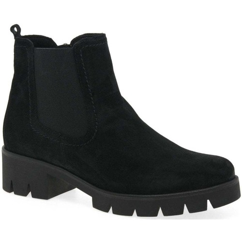 Shoes Women Mid boots Gabor Bodo Womens Suede Chelsea Boots black