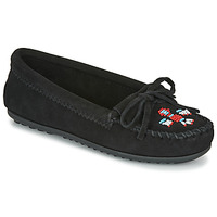Shoes Women Loafers Minnetonka THUNDERBIRD II Black