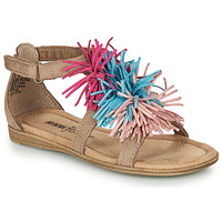 Shoes Girl Sandals Minnetonka ELOISE Taupe