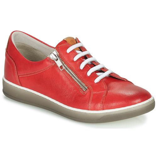 Shoes Women Low top trainers Dorking KAREN Red / Beige
