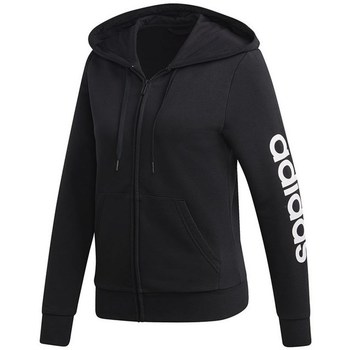 Clothing Women sweaters adidas Originals W Essentials Linear Pullover FZ HD Black