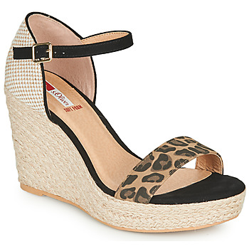 Shoes Women Sandals S.Oliver NOULATI Black / Leopard