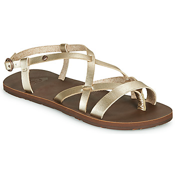 Shoes Women Flip flops Roxy LAYTON Champagne
