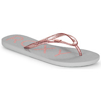 Shoes Women Flip flops Roxy VIVA SPARKLE Grey / Pink