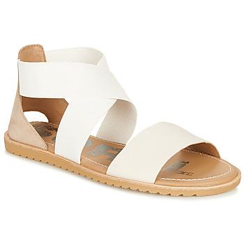 Shoes Women Sandals Sorel ELLA SANDAL White / Beige