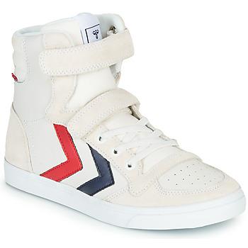 Shoes Children Hi top trainers Hummel SLIMMER STADIL LEATHER HIGH JR White
