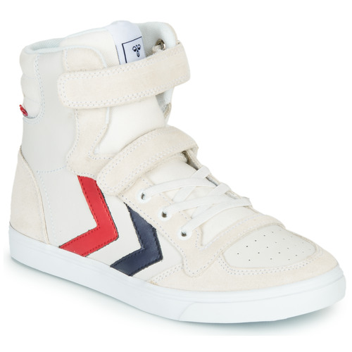 Shoes Children Hi top trainers Hummel SLIMMER STADIL LEATHER HIGH JR White