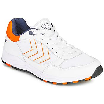 Shoes Men Low top trainers Hummel 3-S SPORT White / Orange