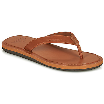 Shoes Men Flip flops Quiksilver MOLOKAI NUBUK II Brown