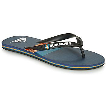 Shoes Men Flip flops Quiksilver MOLOKAI SEASONS Black / Blue / Orange