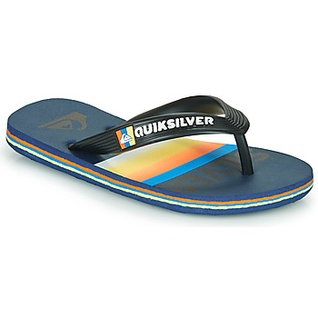 Shoes Children Flip flops Quiksilver MOLOKAI SLAB Blue / Orange / Black