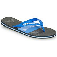 Shoes Men Flip flops Quiksilver MOLOKAI WOLRDBLOCK Blue / Black