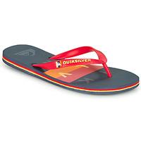 Shoes Men Flip flops Quiksilver MOLOKAI WOLRDBLOCK Blue / Red