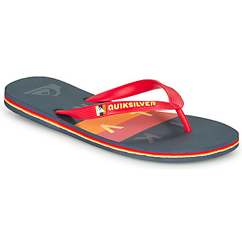 Shoes Men Flip flops Quiksilver MOLOKAI WOLRDBLOCK Blue / Red