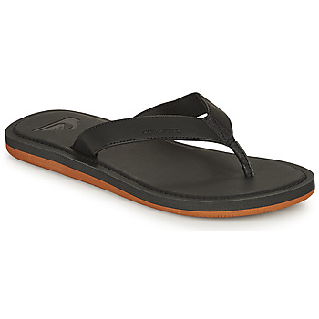 Shoes Men Flip flops Quiksilver MOLOKAI NUBUCK II Black