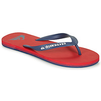 Shoes Men Flip flops Quiksilver MOLOKAI Red / Marine