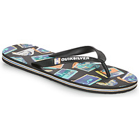 Shoes Men Flip flops Quiksilver MOLOKAI VACANCY Black