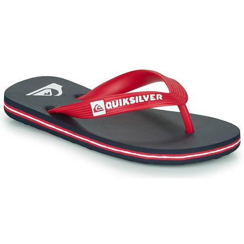Shoes Children Flip flops Quiksilver MOLOKAI YOUTH Blue / Red