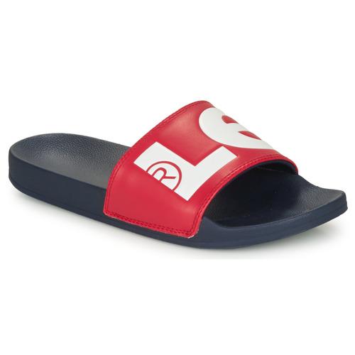Shoes Men Sliders Levi's JUNE L Blue / Red