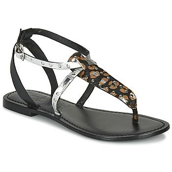 Shoes Women Sandals Les Petites Bombes ALIX Black / Silver