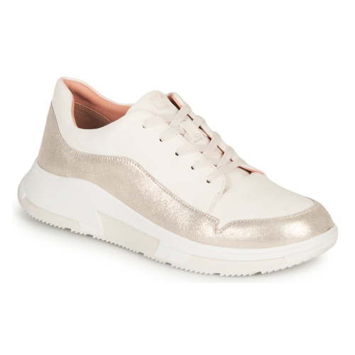 Shoes Women Low top trainers FitFlop FREYA White / Gold