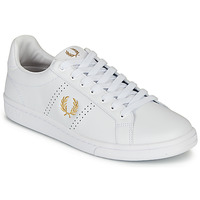 Shoes Men Low top trainers Fred Perry B721 LEATHER White