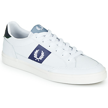 Shoes Men Low top trainers Fred Perry B8198 LEATHER / WHITE / NAVY White