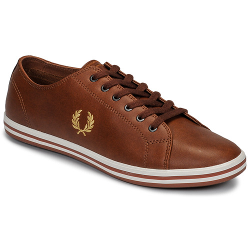 Shoes Men Low top trainers Fred Perry KINGSTON LEATHER Brown