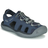 Shoes Men Outdoor sandals Keen SOLR SANDAL Blue / Grey