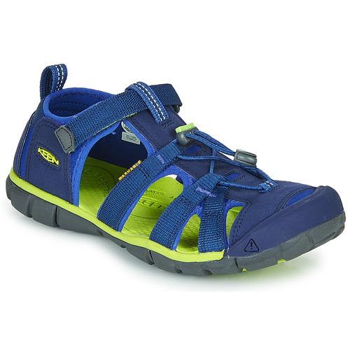 Shoes Children Outdoor sandals Keen SEACAMP II CNX Blue / Green