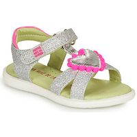 Shoes Girl Sandals Agatha Ruiz de la Prada BEAUTY Silver / Pink