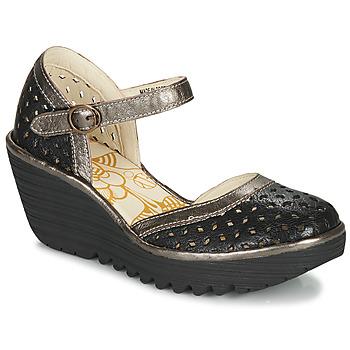 Shoes Women Heels Fly London YVEN  black / Bronze
