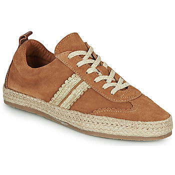 Shoes Women Espadrilles Pataugas PIA Cognac / Gold