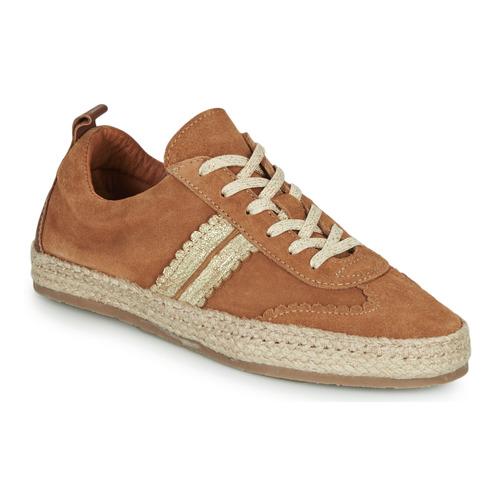 Shoes Women Espadrilles Pataugas PIA Cognac / Gold