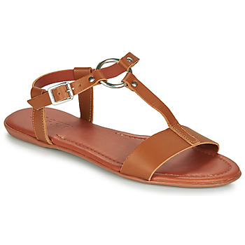 Shoes Women Sandals Esprit KONA T STRAP Cognac