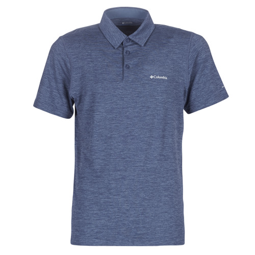 Clothing Men short-sleeved polo shirts Columbia TECH TRAIL POLO Blue