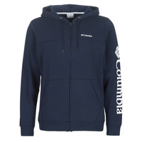 Clothing Men sweaters Columbia Columbia Logo Fleece Full zip Collegiate / Navy