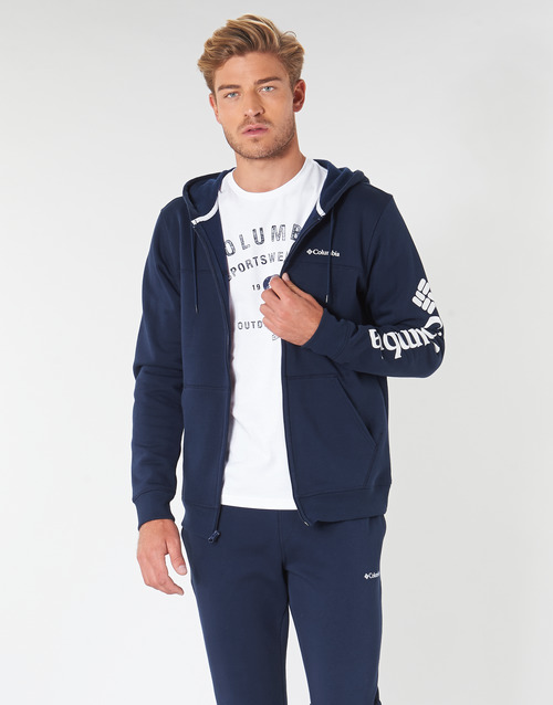 Clothing Men sweaters Columbia Columbia Logo Fleece Full zip Collegiate / Navy
