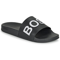 Shoes Men Sliders BOSS BAY SLID RBLG Black / White