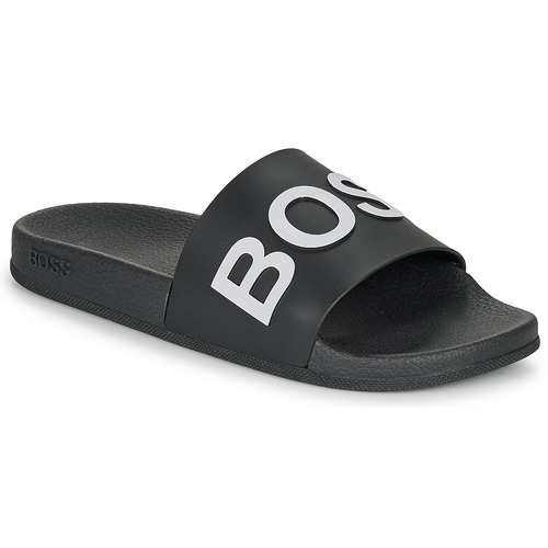 Shoes Men Sliders BOSS BAY SLID RBLG Black / White