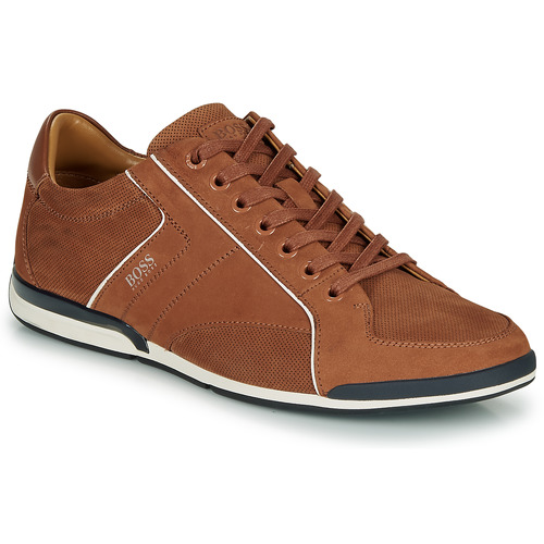 Shoes Men Low top trainers BOSS SATURN LOWP NUPF Brown