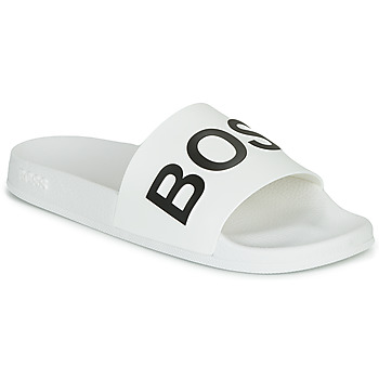 Shoes Men Tap-dancing BOSS BAY SLID RBLG White / Black